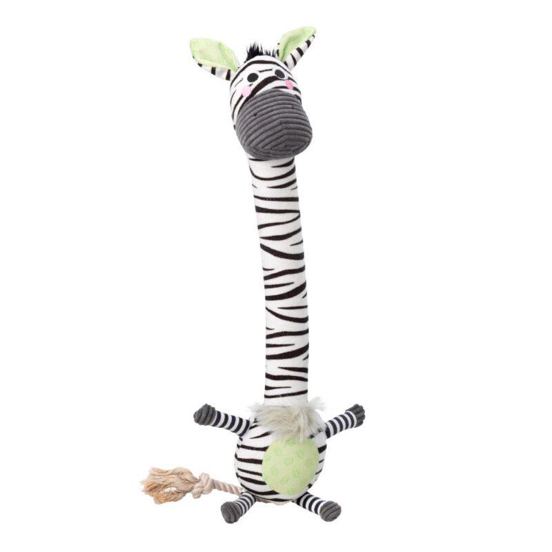 House of Paws Zebra Safari Long Tennis Ball Dog Toy