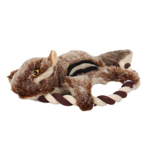 Pet Brands Forest Critters Plush Squirrel Frisbee Dog Toy