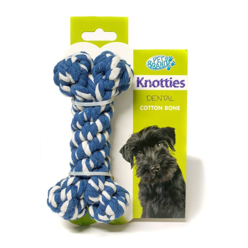 Pet Brands Knotties Dental Cotton Bone Medium Dog Toy