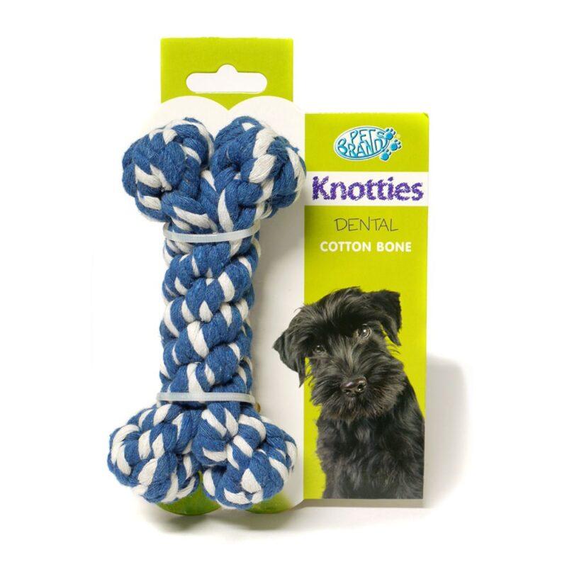 Pet Brands Knotties Dental Cotton Bone Small Dog Toy