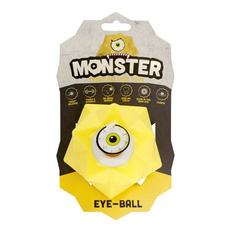 Pet Brands Monster Treat Release Dog Toy - Yellow