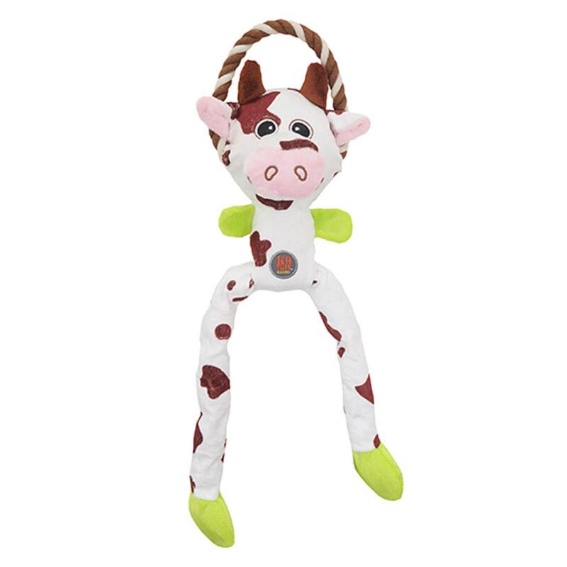 Petstages Thunda Tugga Leggy Cow Dog Toy