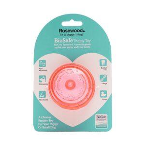 Rosewood Biosafe Puppy Ball Pink