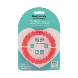 Rosewood Biosafe Puppy Ring Pink