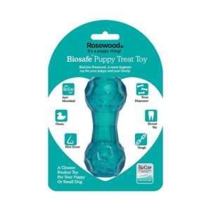 Rosewood Biosafe Puppy Treat Dumbbell Blue