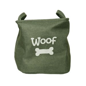 Rosewood Canvas Dog Toy Box Storage Basket
