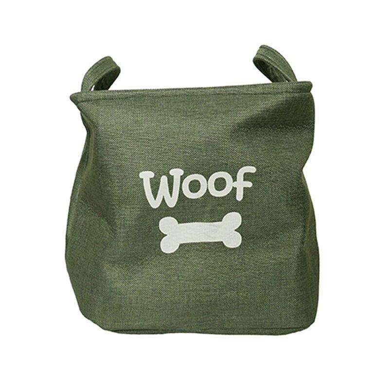 Rosewood Canvas Dog Toy Box Storage Basket