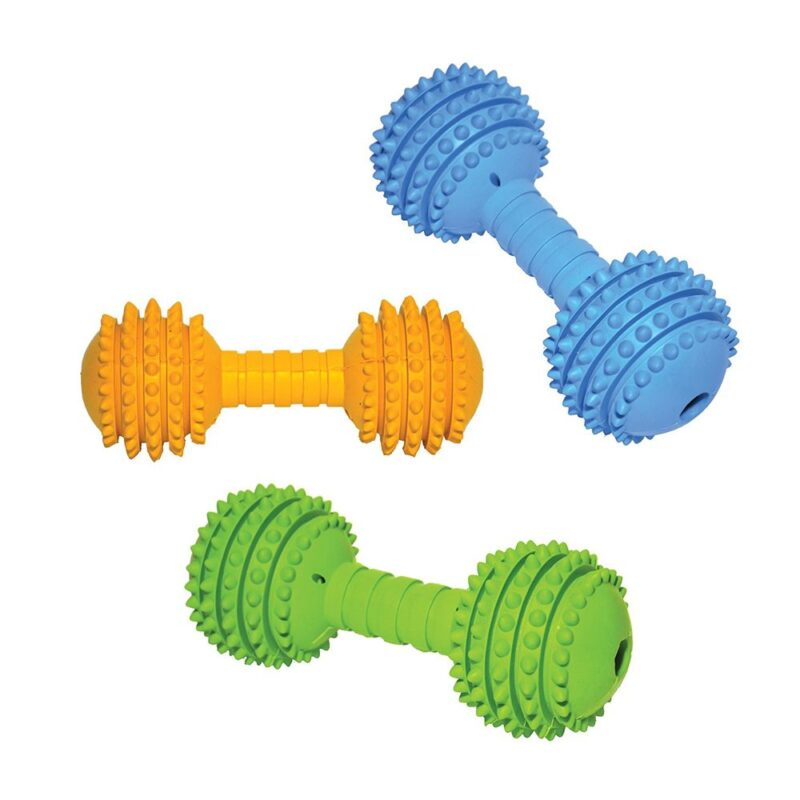Rosewood Cyber Rubber Dumbell Dog Toy Medium