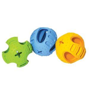 Rosewood Cyber Rubber Stuff N Bounce Treatholder Dog Toy
