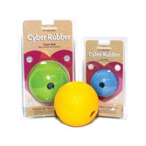 Rosewood Cyber Rubber Treat Ball Small Dog Toy