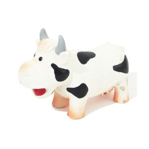 Rosewood Jolly Doggy Grunters Latex Cow Dog Toy