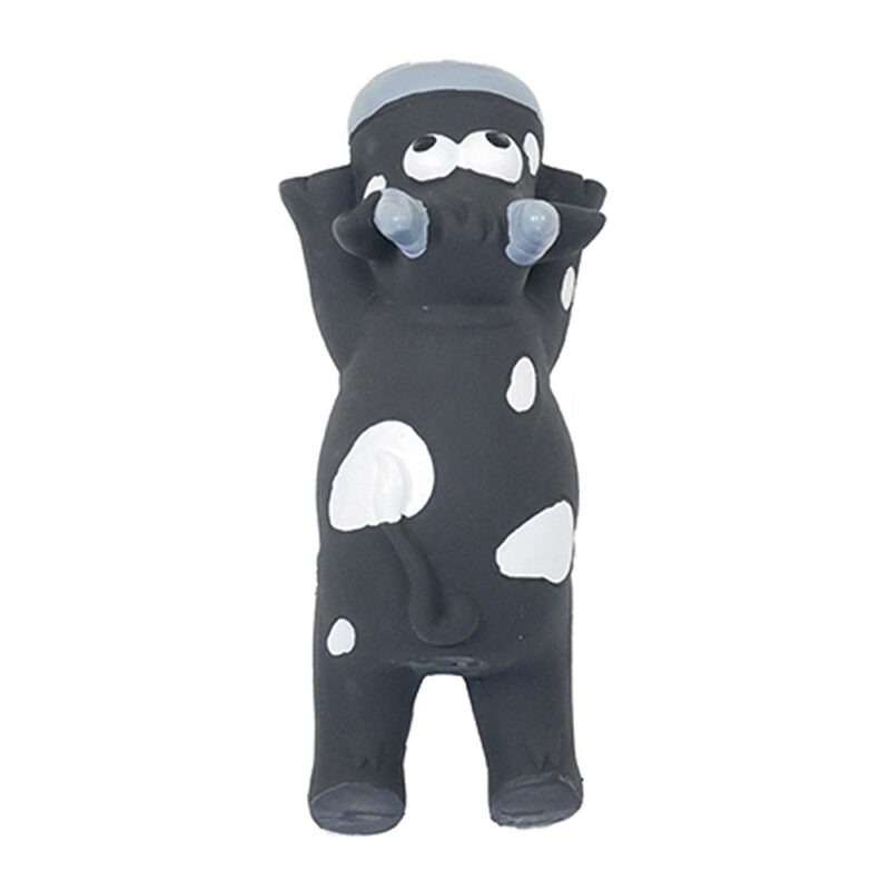 Rosewood Jolly Doggy Latex Flat Cow Dog Toy