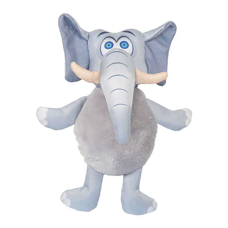 Rosewood Jolly Doggy Tough Safari Elephant Dog Toy