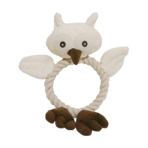 Rosewood Jolly Doggy Wildlife Owl Dog Toy