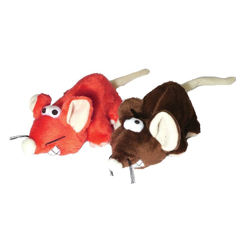 """Rosewood Jolly Moggy Cheeky Mice 5"""" Cat Toy"""