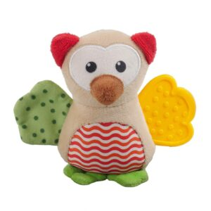 Rosewood Little Nippers Wise Owl Puppy & Small Dog Squeaky Toy