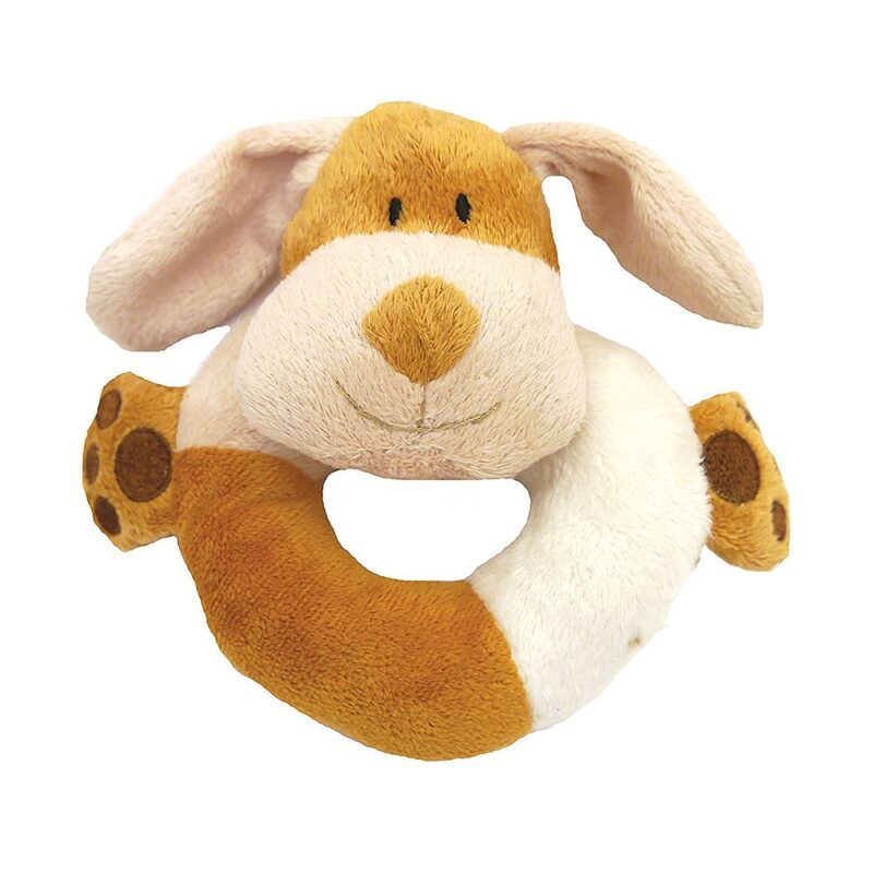 Rosewood Natural Nippers Cuddle Plush Ring Dog Toy