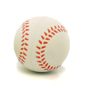 Rosewood Rubber Baseball Dog Toy