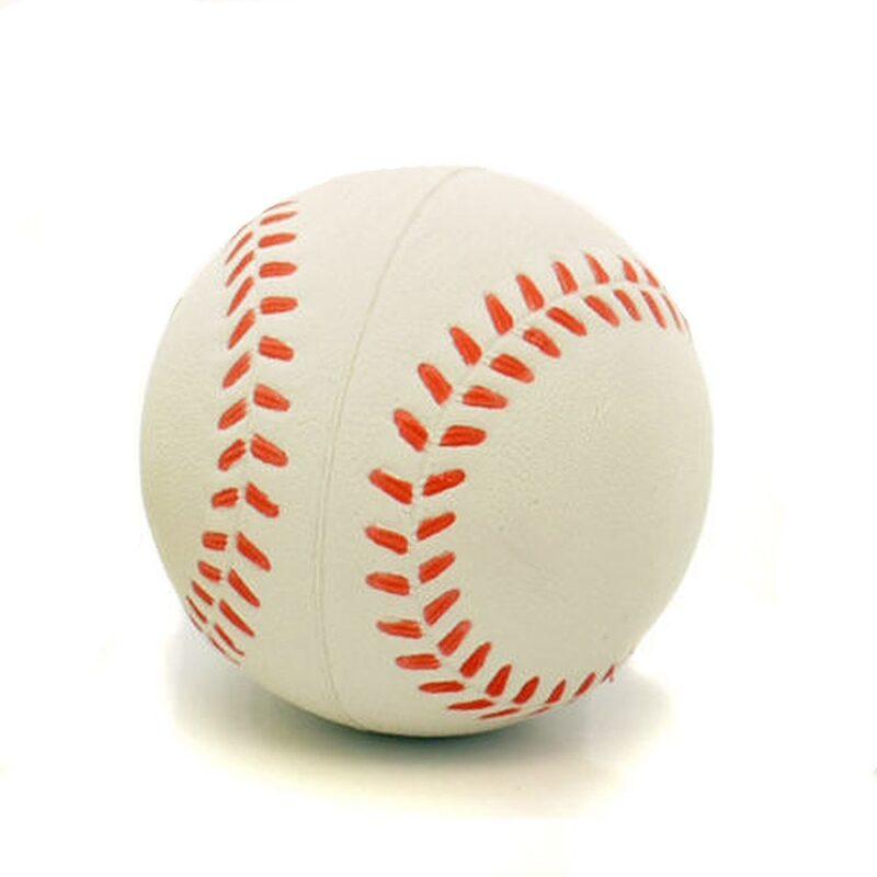 Rosewood Rubber Baseball Dog Toy