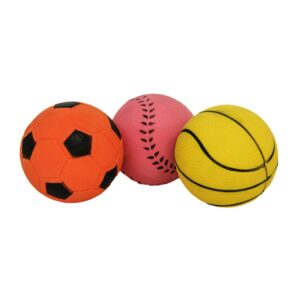 Rosewood Rubber Sports Balls 3 Pack