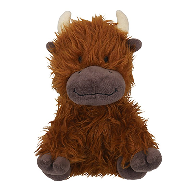Rosewood Tough Plush Rope Core Cow Dog Toy