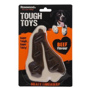 Rosewood Tough Toys Meaty Beef Takeaway Steak Large Dog Toy