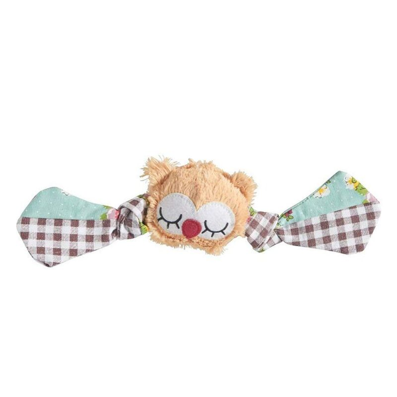 Sharples Hoot 'n' Fling Owl Dog Toy