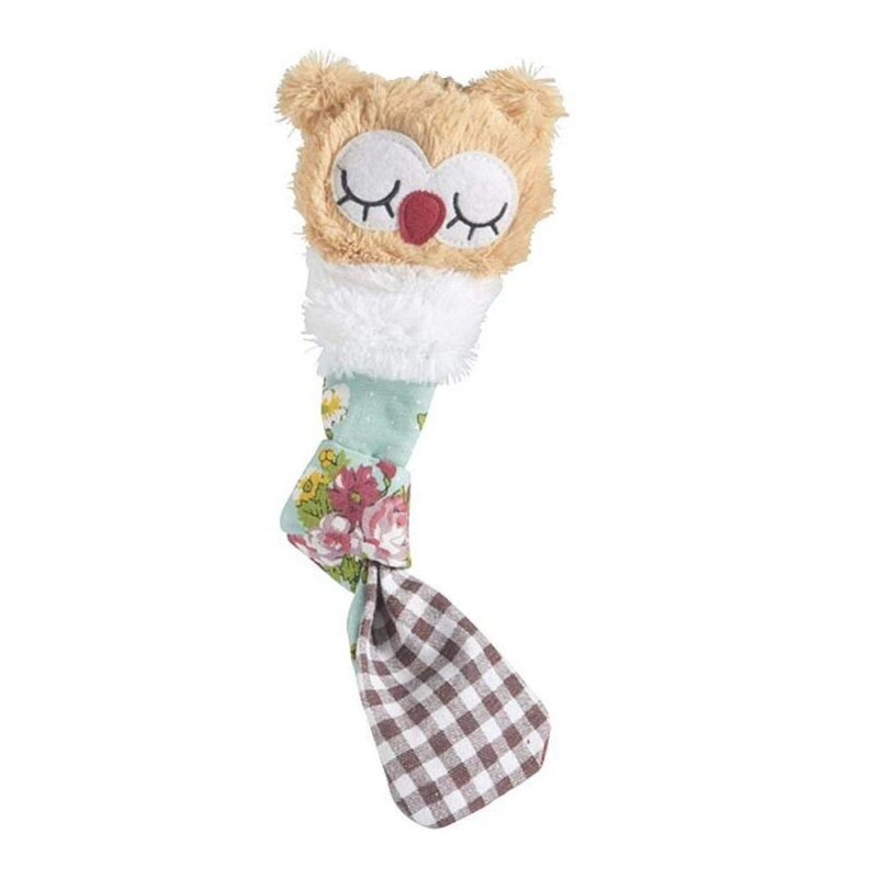 Sharples Hoot 'n' Plush Owl Tug Dog Toy