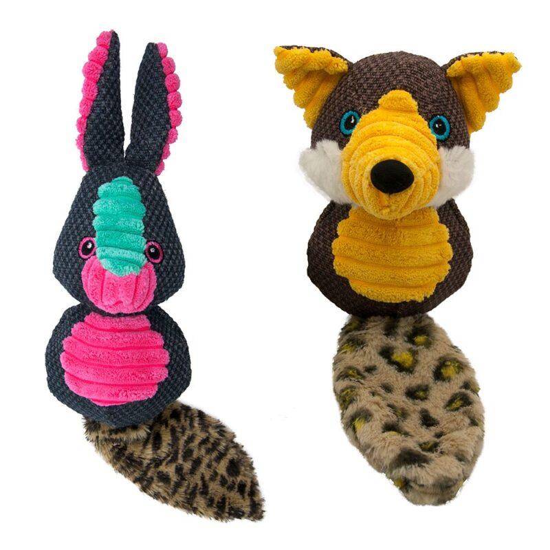 Sotnos Foxy or Bunny Tough Squeaky Dog Toy