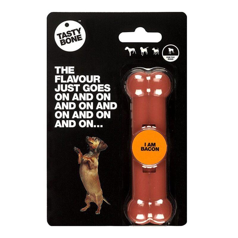 Tastybone Nylon Dog Chew Bone - Bacon Toy