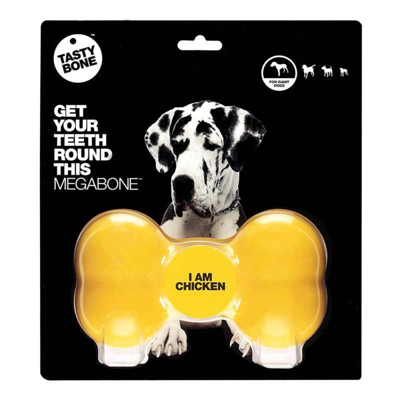 Tastybone Nylon Dog Chew Bone - Chicken Mega