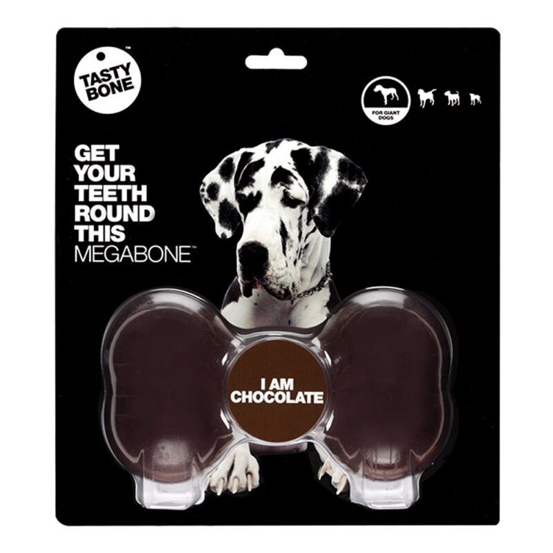 Tastybone Nylon Dog Chew Bone - Chocolate Mega
