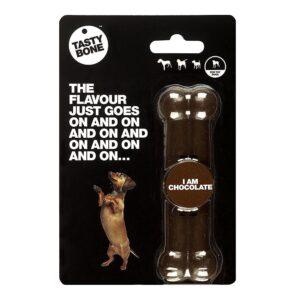 Tastybone Nylon Dog Chew Bone - Chocolate Toy