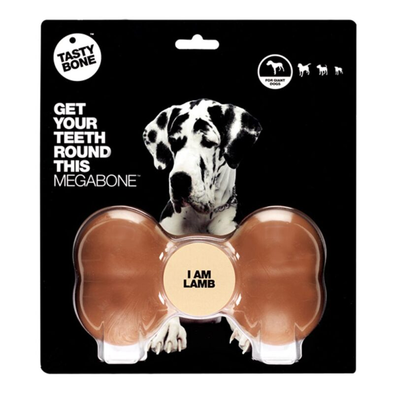 Tastybone Nylon Dog Chew Bone - Lamb Mega