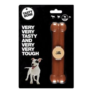 Tastybone Nylon Dog Chew Bone - Lamb Small