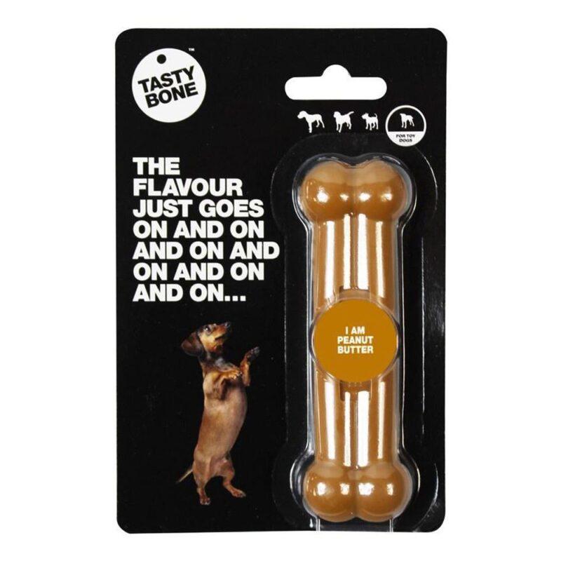 Tastybone Nylon Dog Chew Bone - Peanut Butter Toy