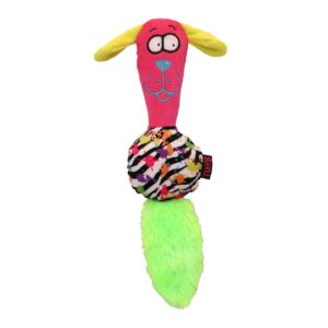 Tuffs Urban Crazy Heads Squeaky Dog Toy